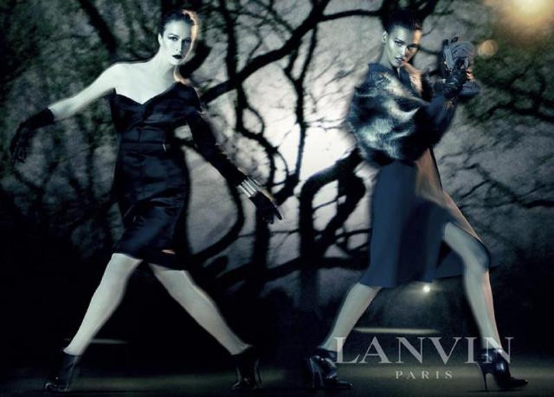 2008 FW Lanvin Liya kebede and Raquel zimmermann by Steven meisel2