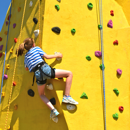 CLIMBING - conquer the climbing wall take in the view from the top of the tower! Challenge yourself with a range of routes to choose from.