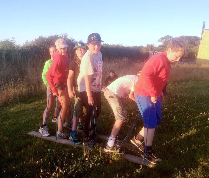 in the evening we worked as teams to complete a series of challenges