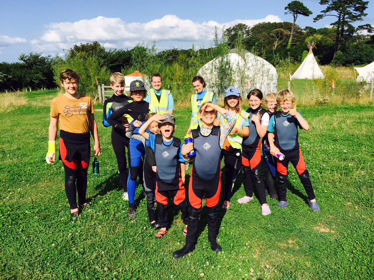 wetsuits on and ready for action!