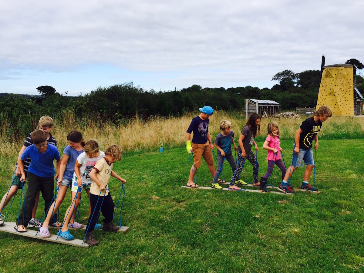 practicing co-ordination and teamwork!