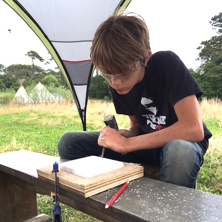STONE CARVING - learn new skills from a stonemason which will enable you to carve a hand drawn design into a piece of sandstone using traditional tools.