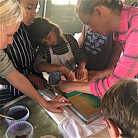 SILK SCREEN PRINTING - design, draw and cut your stencil, choose your colours and learn how to silk screen print your design onto a t-shirt to take home.
