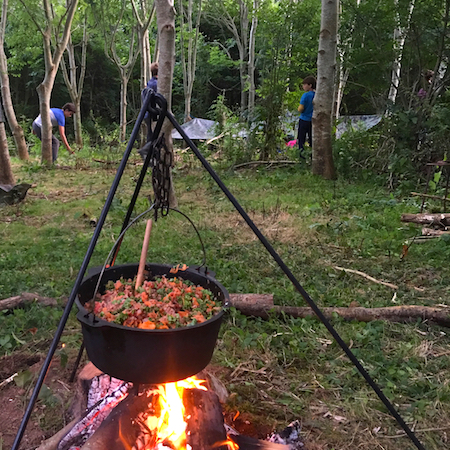 WILD WOOD CAMPOUT - put your new found survival skills into practice with a night in the woods feasting on food cooked over the campfire and sleeping under the stars in your hand-made shelter.