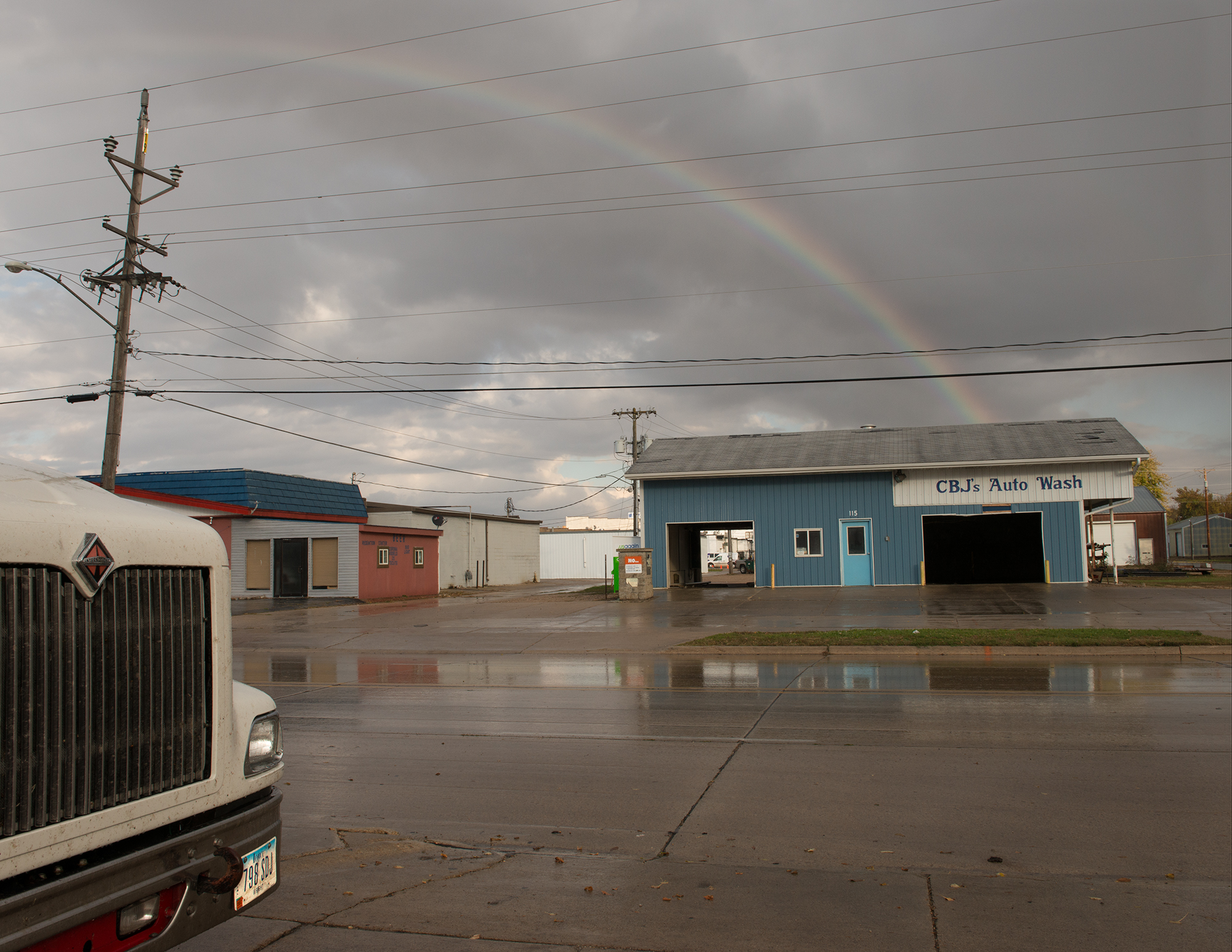 Rainbow east of Highway 69, 2013