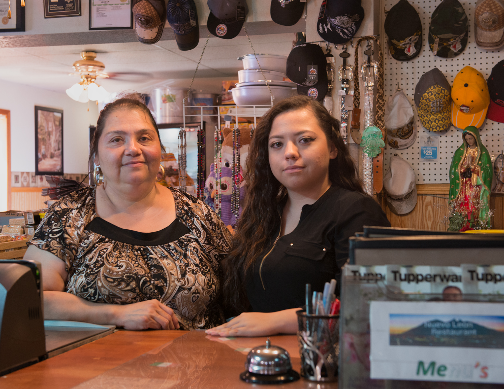 Christina (shopkeeper) and granddaughter Kimberly, 2017