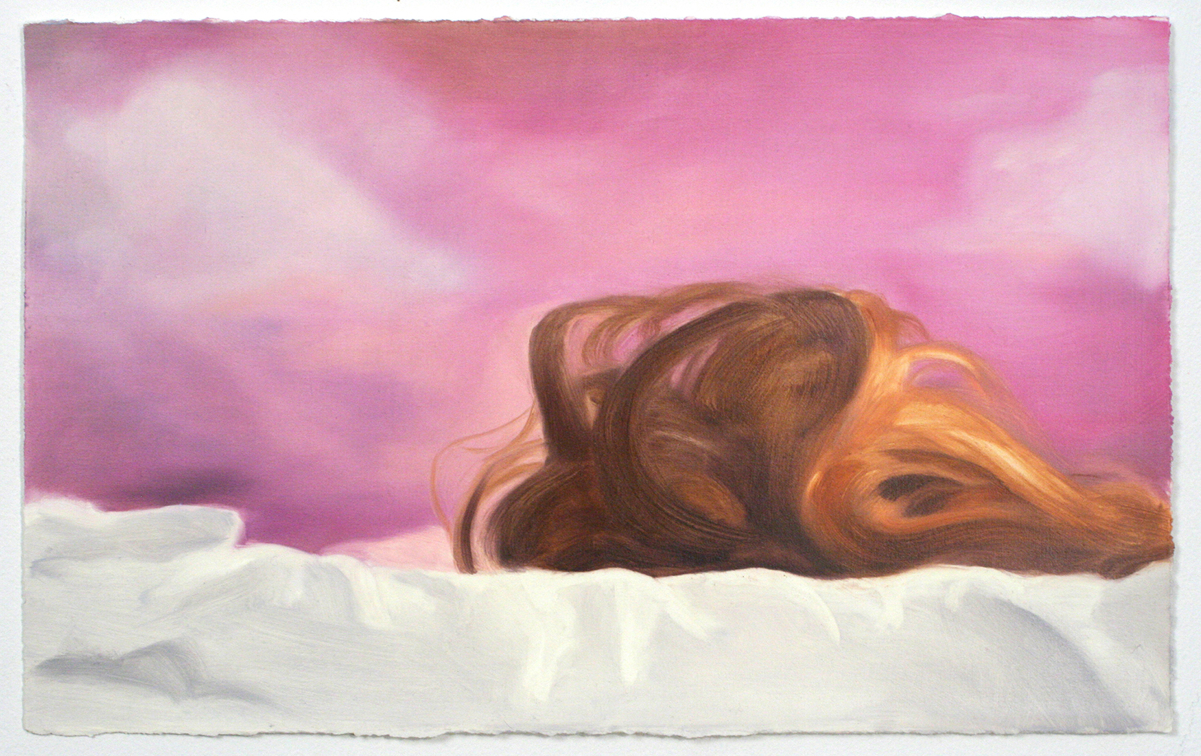 Sarah Kurz, It Was a Splendid Sight, 2013, oil on paper, 9 1/4 x 15 inches