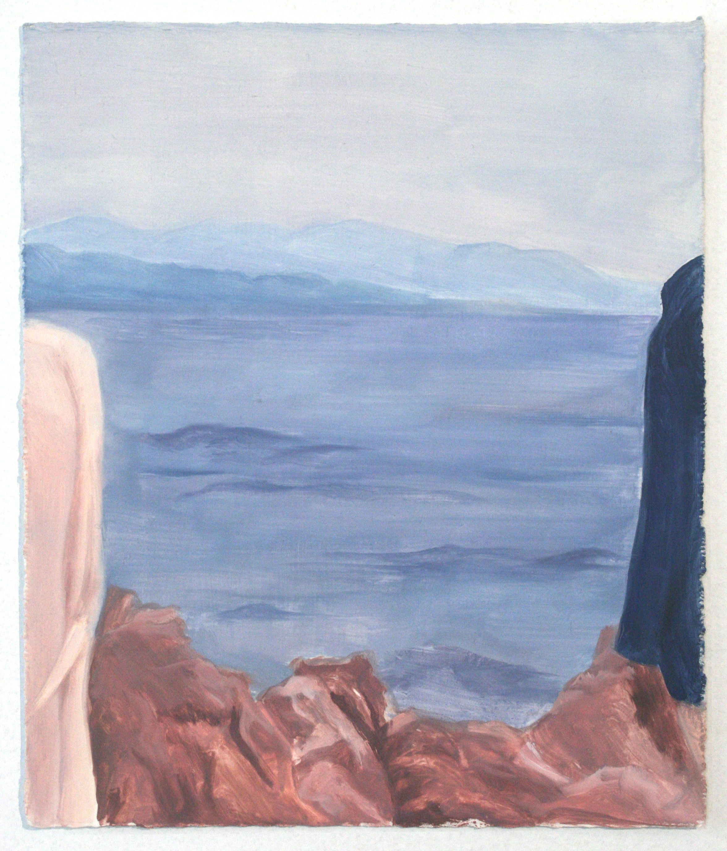 Sarah Kurz, Dusk, oil on paper, 2015, 9 1/2 x 8 inches