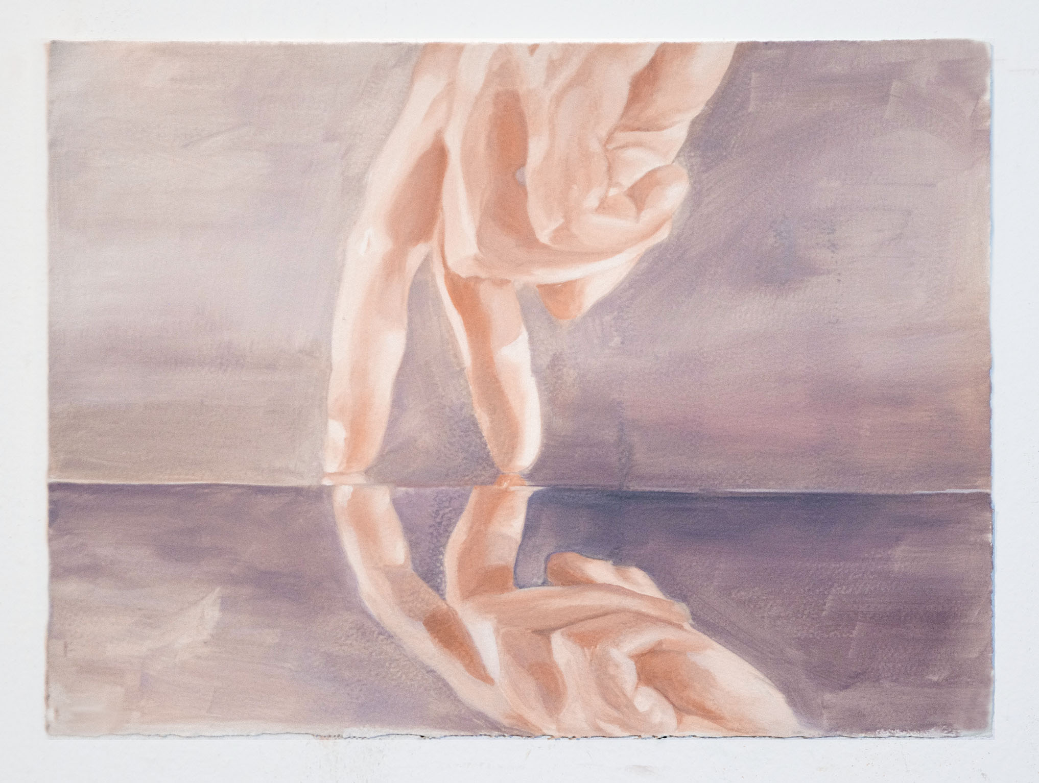 Sarah Kurz, My Image of You, 2014, oil on paper, 11 x 15 inches