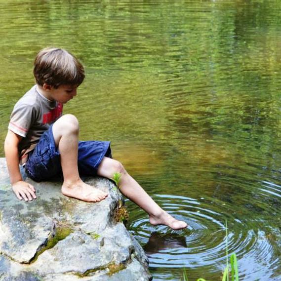 Camper at the Quarry Pond