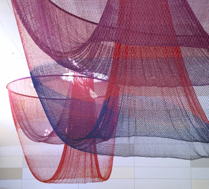 Every Beating Second , Janet Echelman, San Francisco International Airport, 2011  Designer and Project Manager
