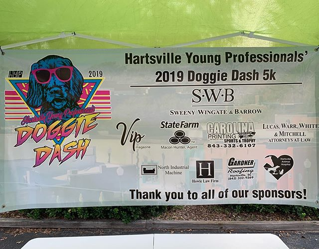Thank you to all of our sponsors! 🐶❤️ #doggiedash5K