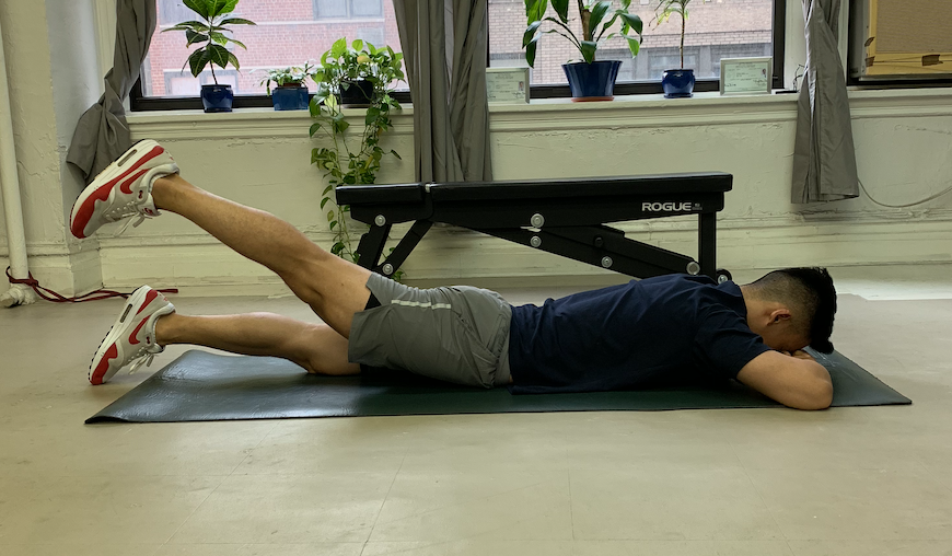 Prone Hip Extension Holds