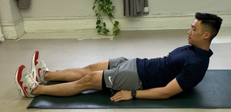 Supine Tempo Sit-up - Finish Position