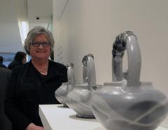 Teresa Dunlop at Sheridan College's Graduate Exhibition at the Gardiner Museum Toronto, Canada