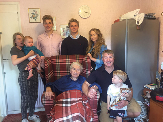 Wally in 2016 with his family