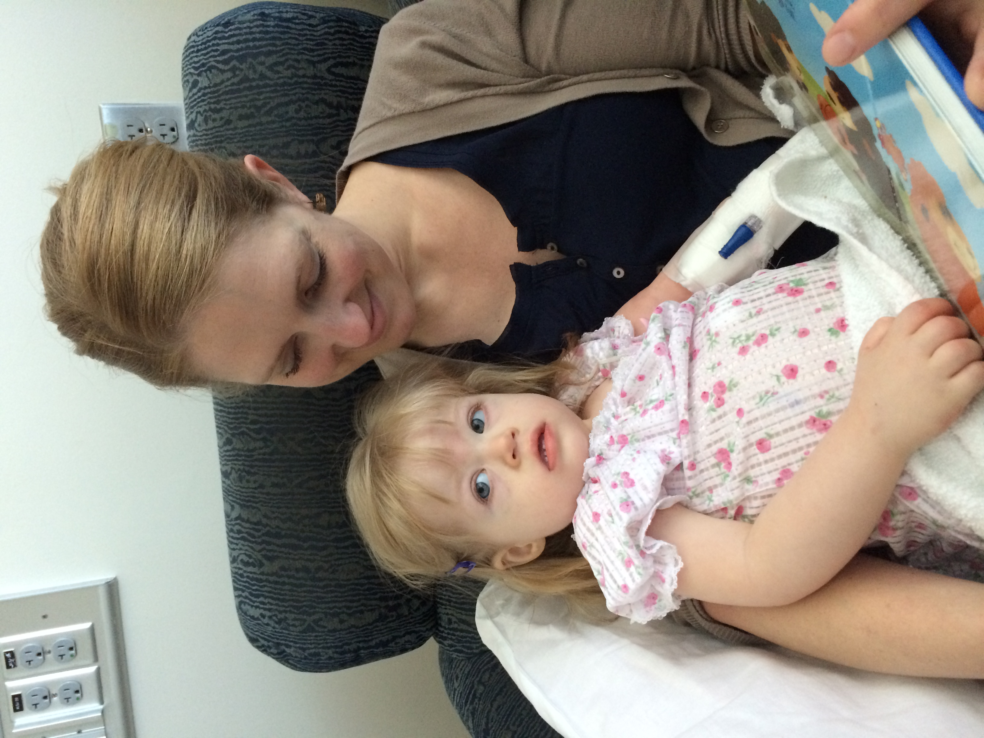 Elliana with her mother and well on the way to recovery