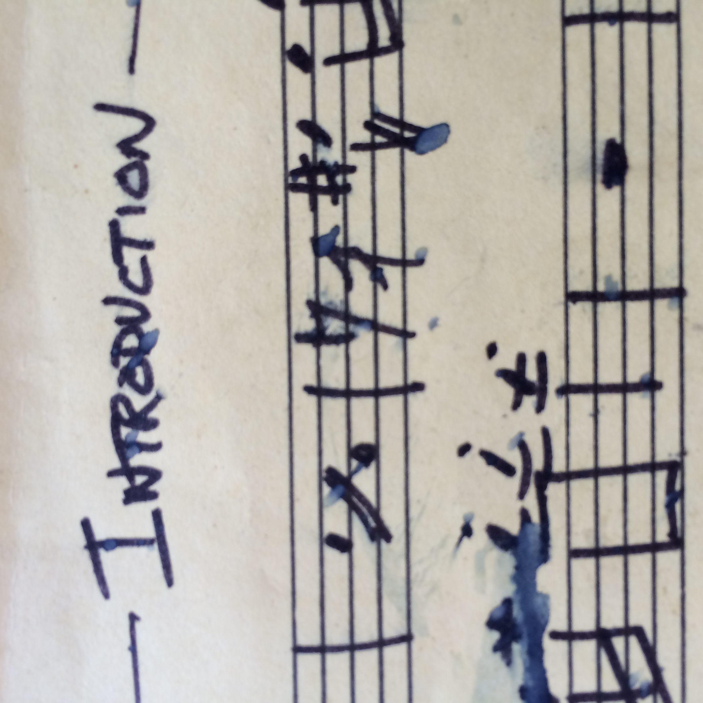 Introduction music sheet