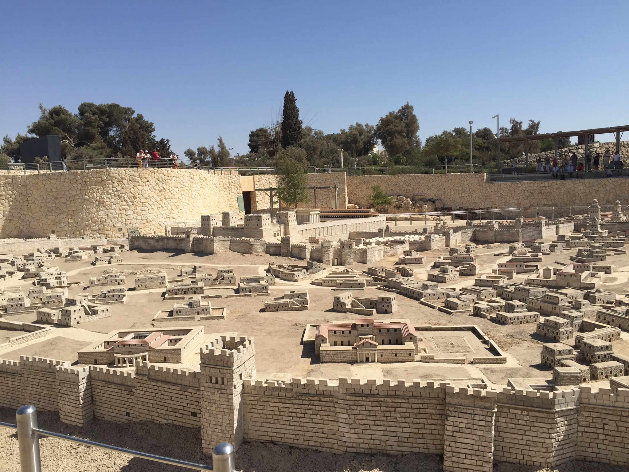Scale model of the Old City of Jerusalem