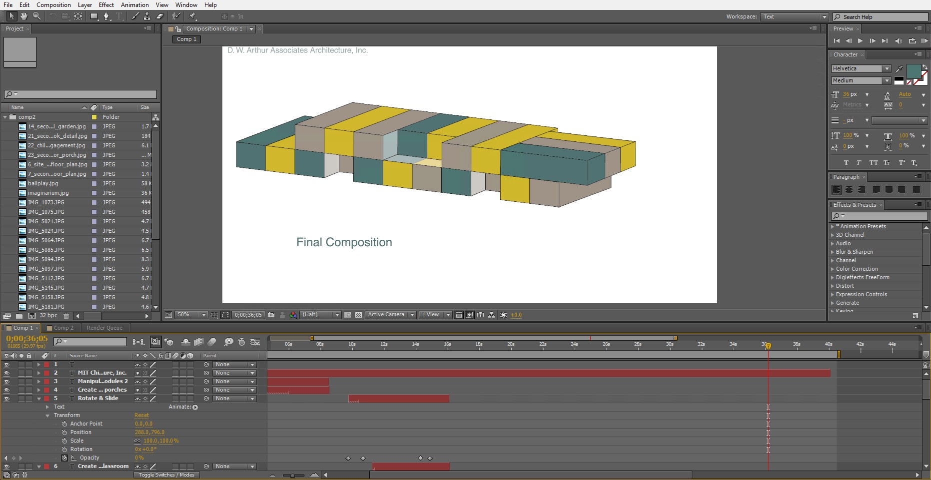 Screenshot of our project in progress.  Click the image to view our animation!
