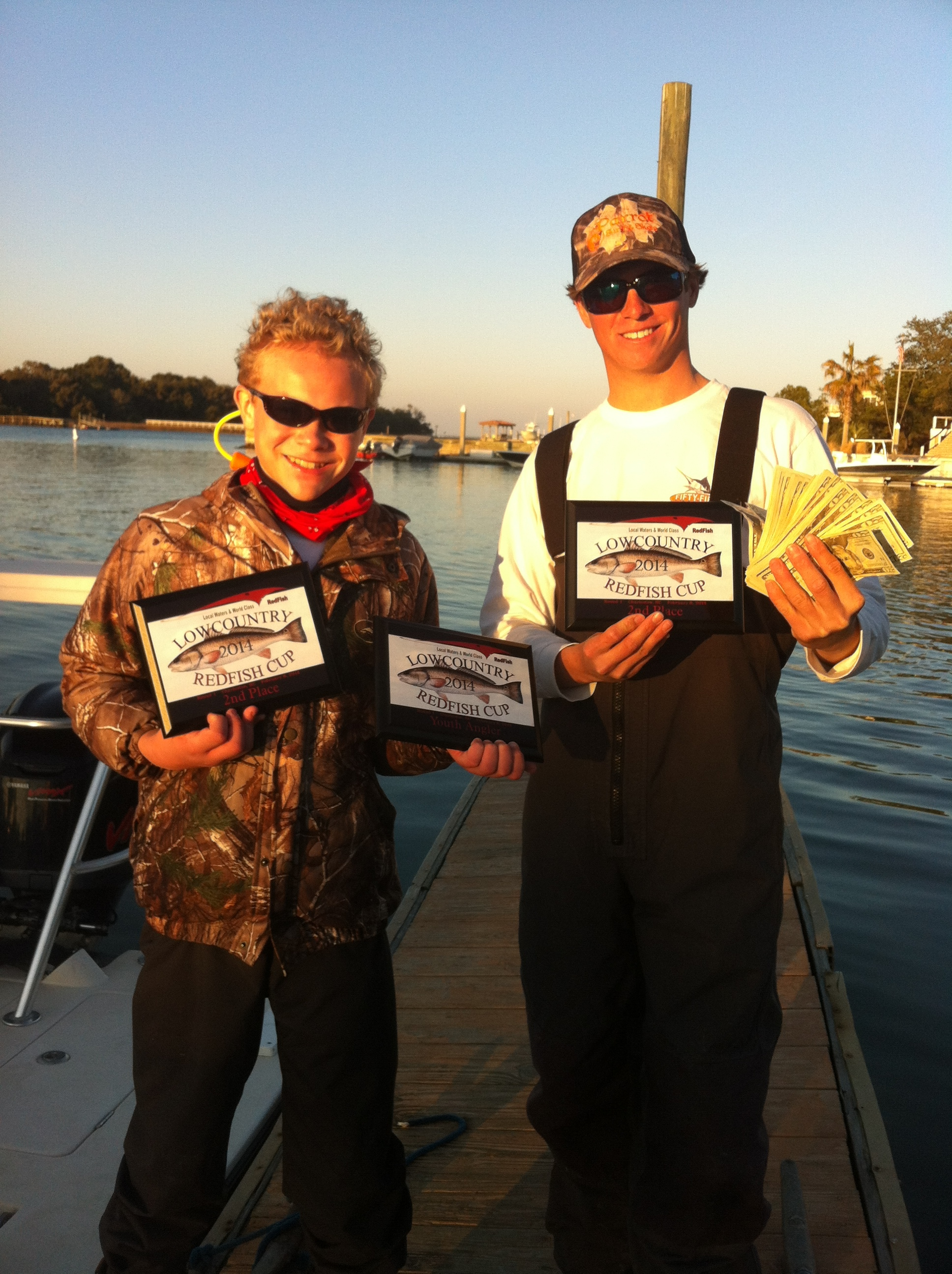 We took home some cash and some sweet plaques, my partner got two with one being Youth angler winner.
