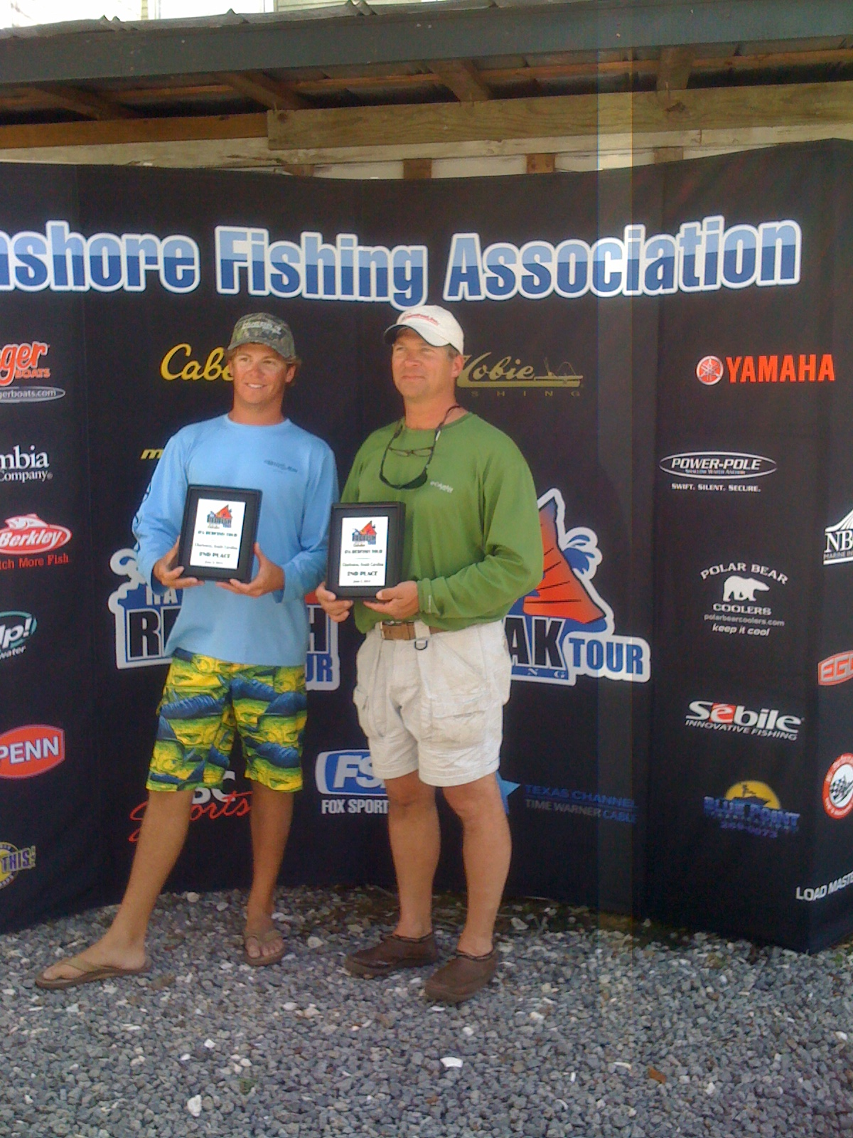 My dad and I took 2nd place in the IFA redfish tour Charleston event back in 2012. We took home two sweet plaques and a decent paycheck.
