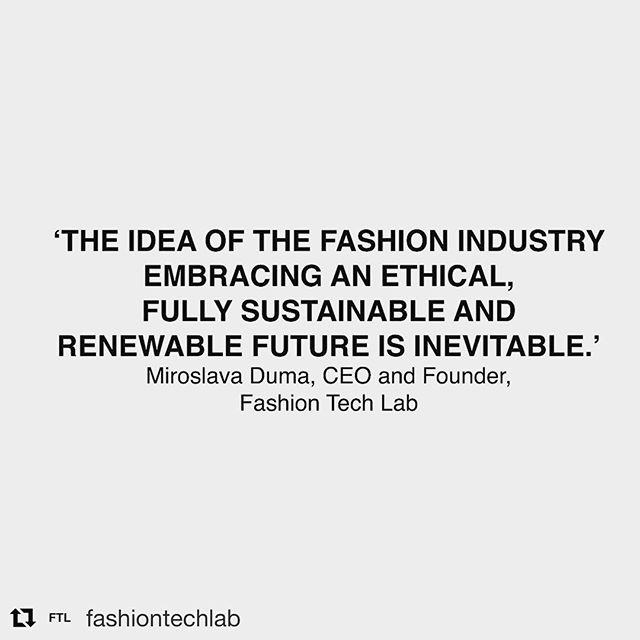 Agree. Welcome to the world @fashiontechlab 🔬👗🍃👏🏼👏🏼 . . #Repost @fashiontechlab ・・・ Miroslava Duma @miraduma speaking at the @financialtimes Business of Luxury Conference