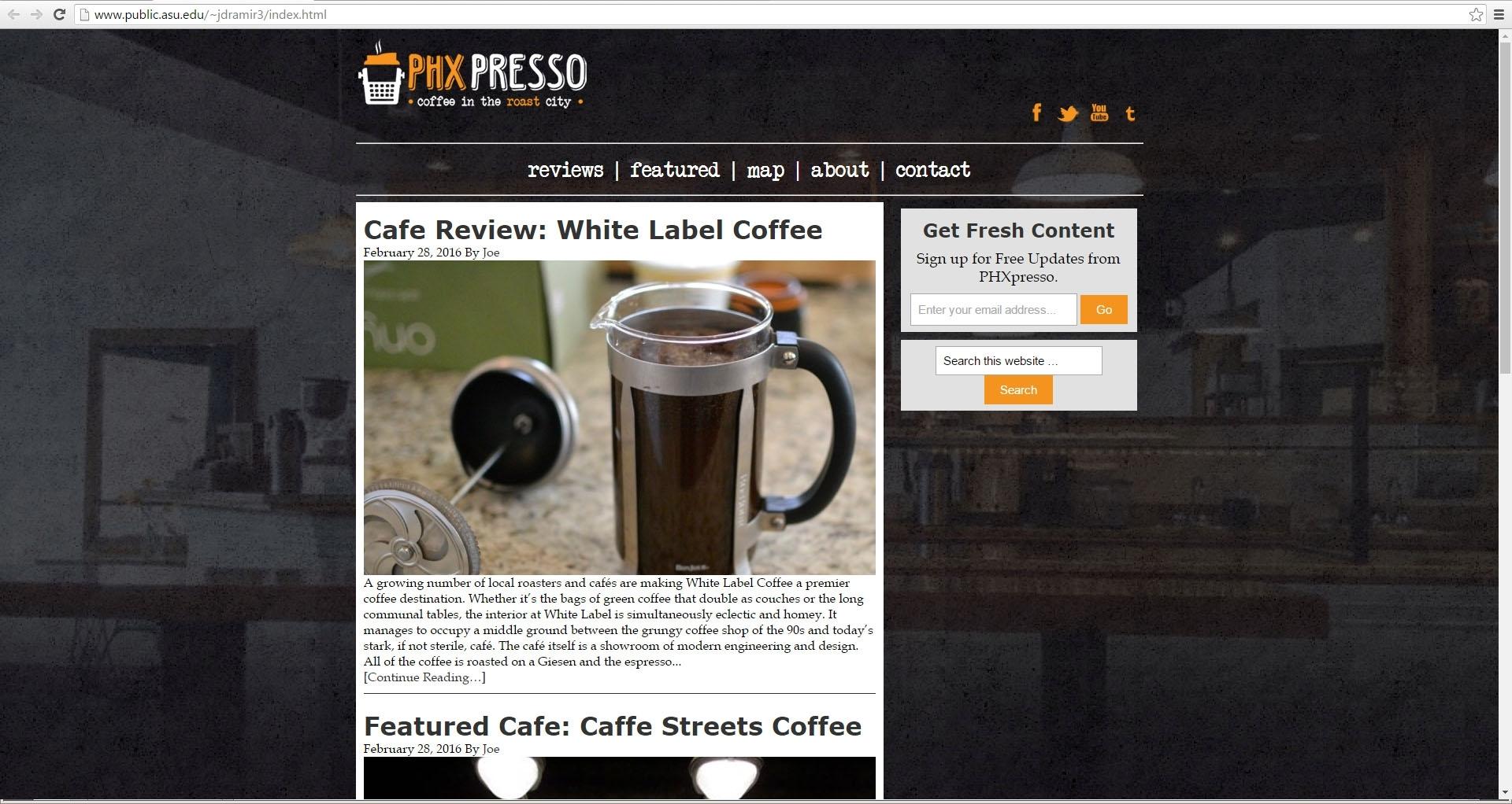 """<a href=""""http://www.public.asu.edu/~jdramir3/index.html""""> PHXpresso</a>"""