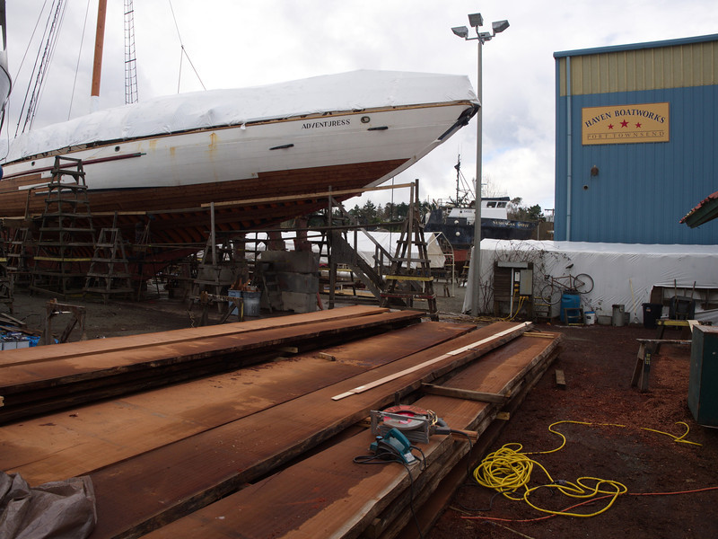 Wooden boats restored at Boat Haven Shipyard