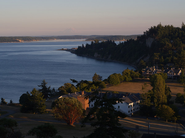 Overlooking Fort Worden and Admiralty Inlet