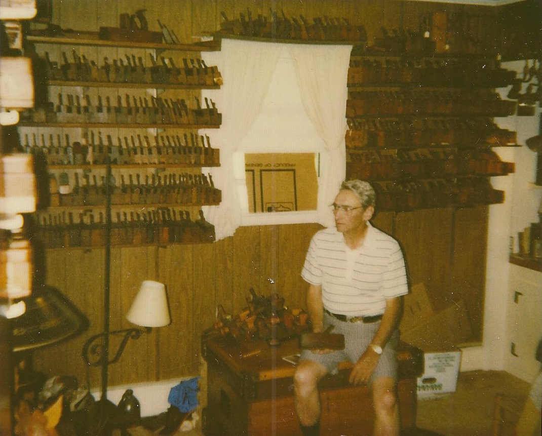 Wendall at home in VT with his plane collection