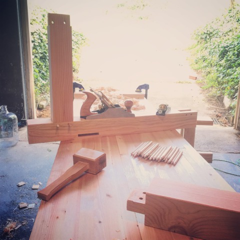 After the Foundations course Raphael built himself a workbench in his basement so he can continue making beautiful pieces.