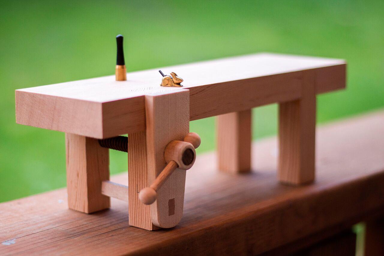 Miniature Work Bench by Anne Briggs