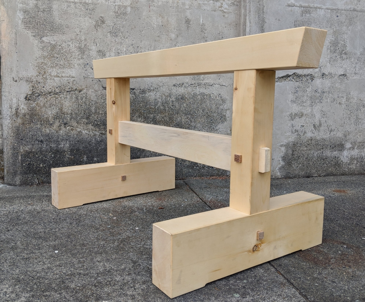 Timber Horse, Built in Dale Brotherton's Class, Japanese Tools
