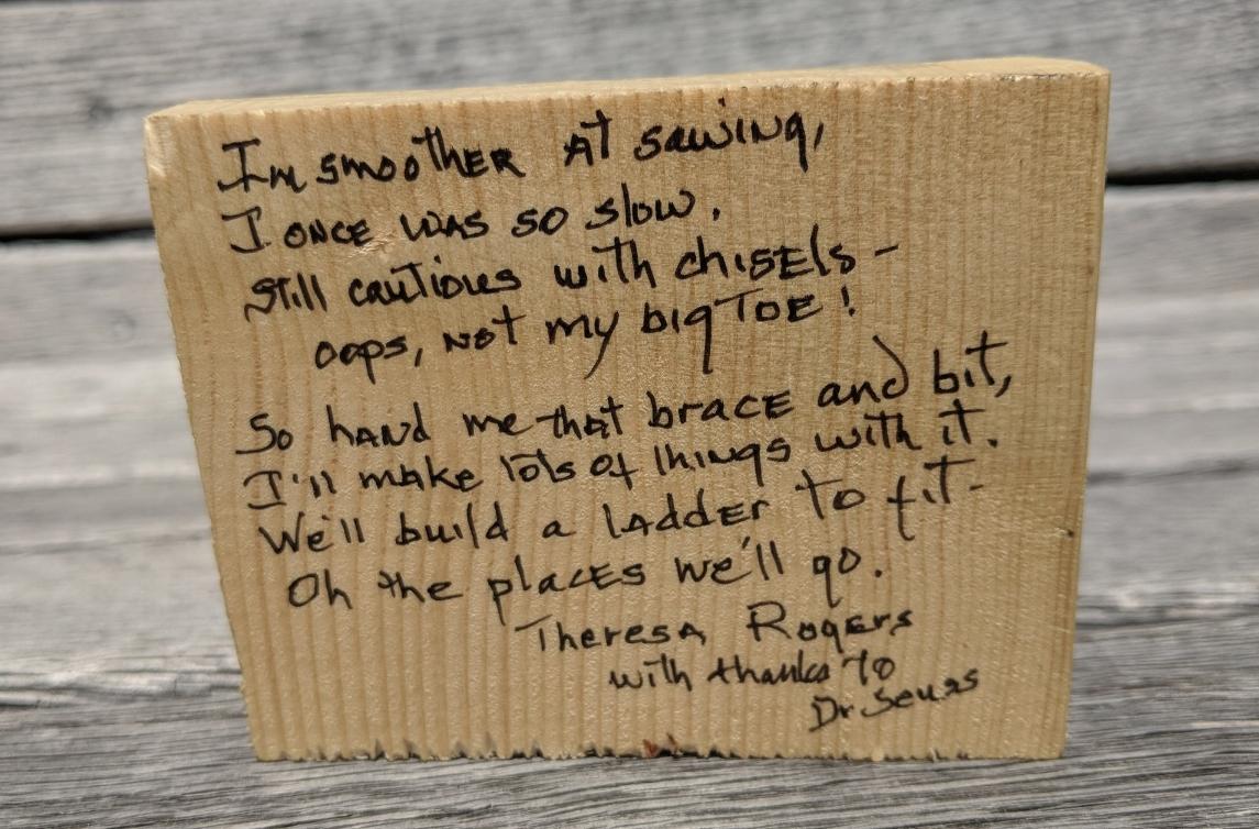 Theresa Roger's poem