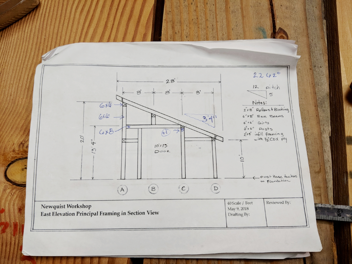 The plans for the workshop, Newquist Forge