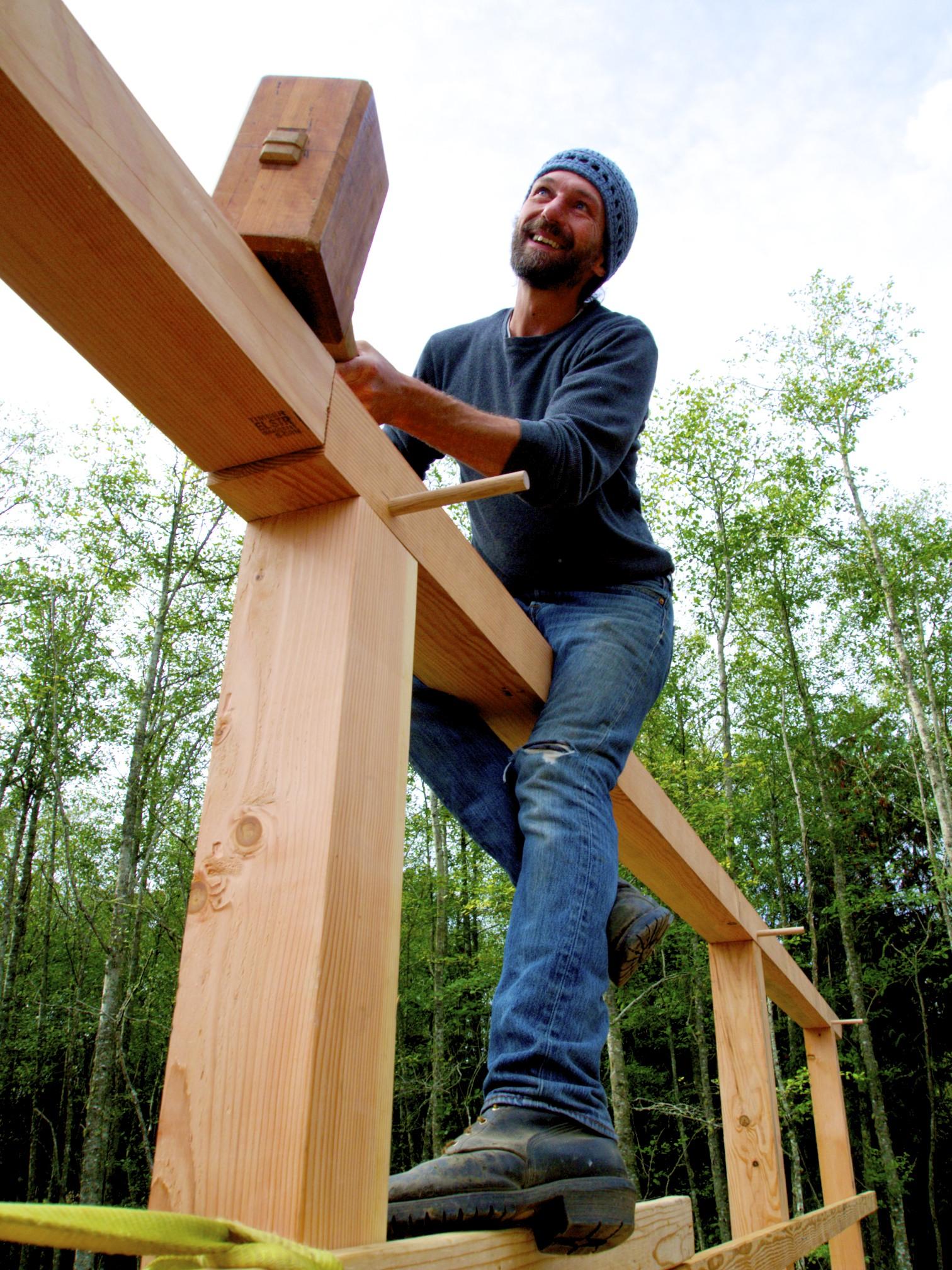 Abel Dances, 2018 timber frame Newquist workshop raising 28.jpg