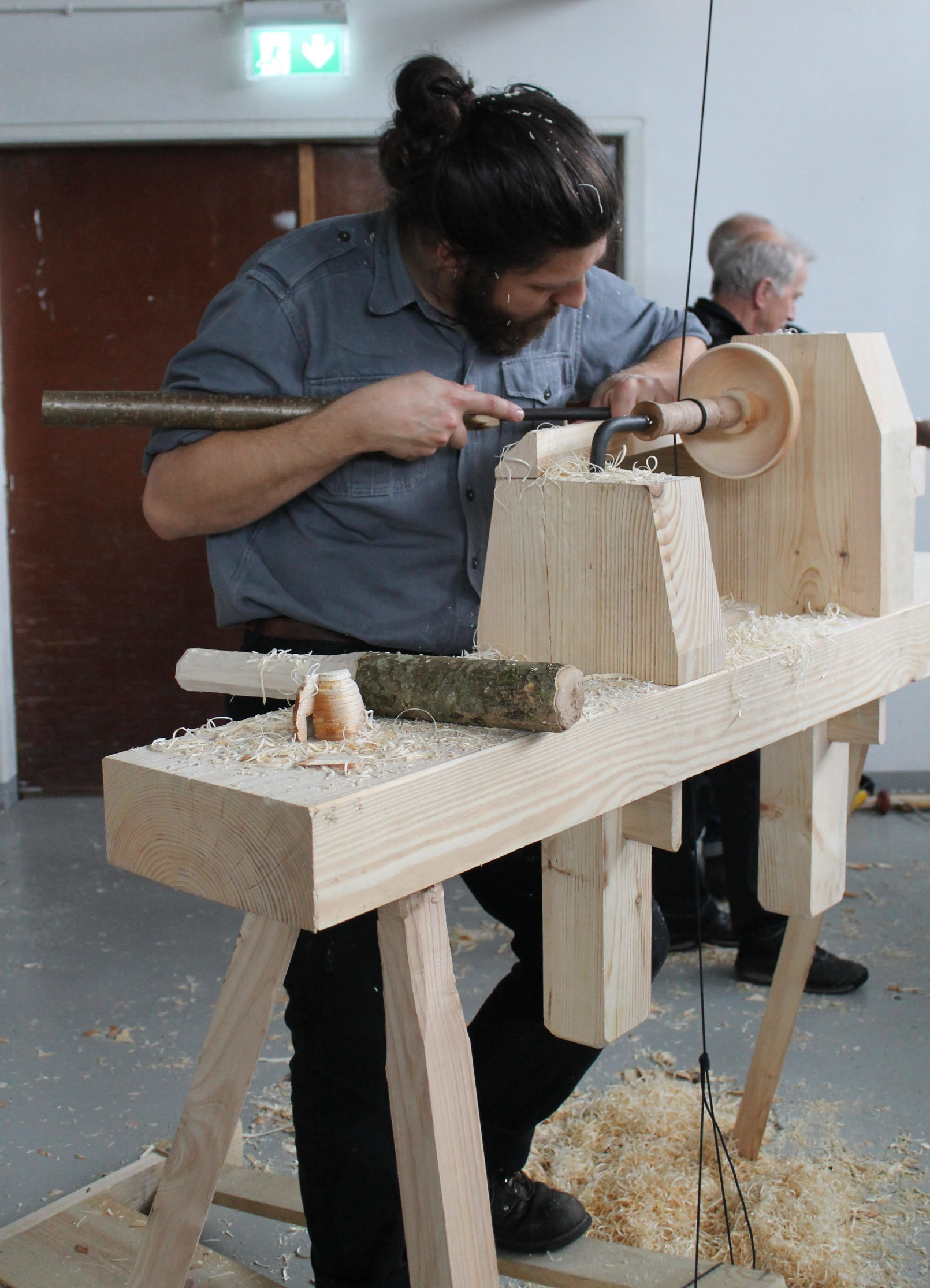 Turning on a Pole Lathe