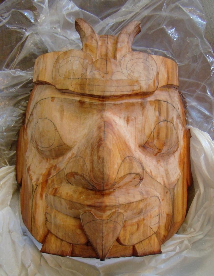 Tlingit style mask Carver, Scott Jensen