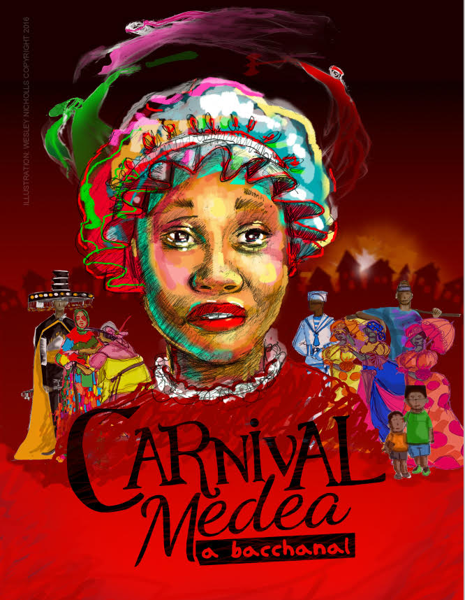 From the producer of Jean and Dinah, Miss Miles, comes the retelling of this Greek classic, Medea by Euripedes. Playwrights, Dr Shirlene Holmes and Rhoma Spencer fill the play with the nuance of the Trinidad Carnival and the subtle humour of its people; packing an age old story of the woman scorned into a 'aural and visual spectacle'.  Carnival Medea- a bacchanal is directed by popular T&T, Canada based, performer and director, Rhoma Spencer with Movement and choreography by Christopher Sheppard.