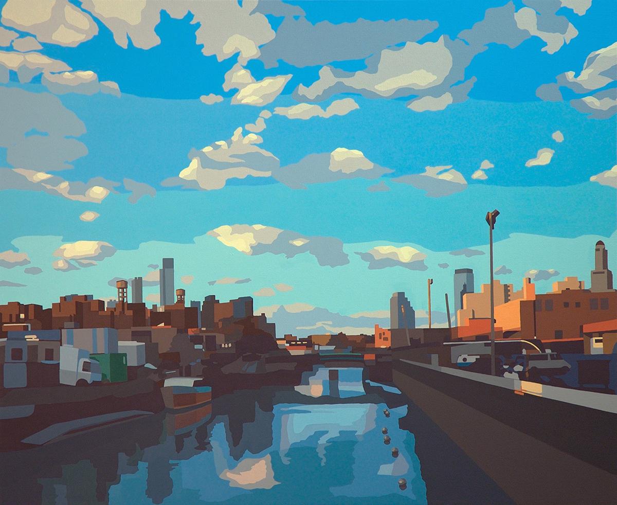 "Gowanus // oil on canvas // 44""x36"""