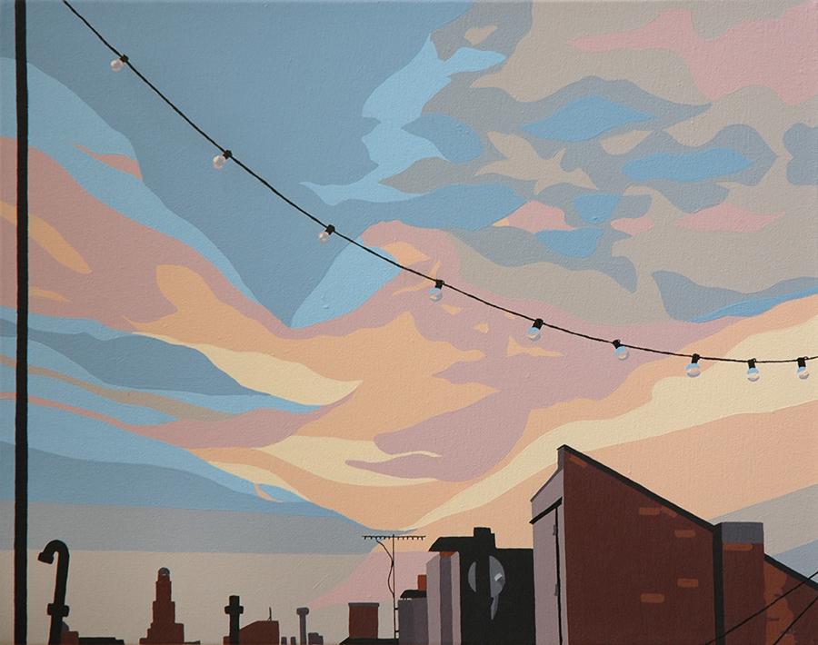"Porch // oil on canvas // 20""x16"""