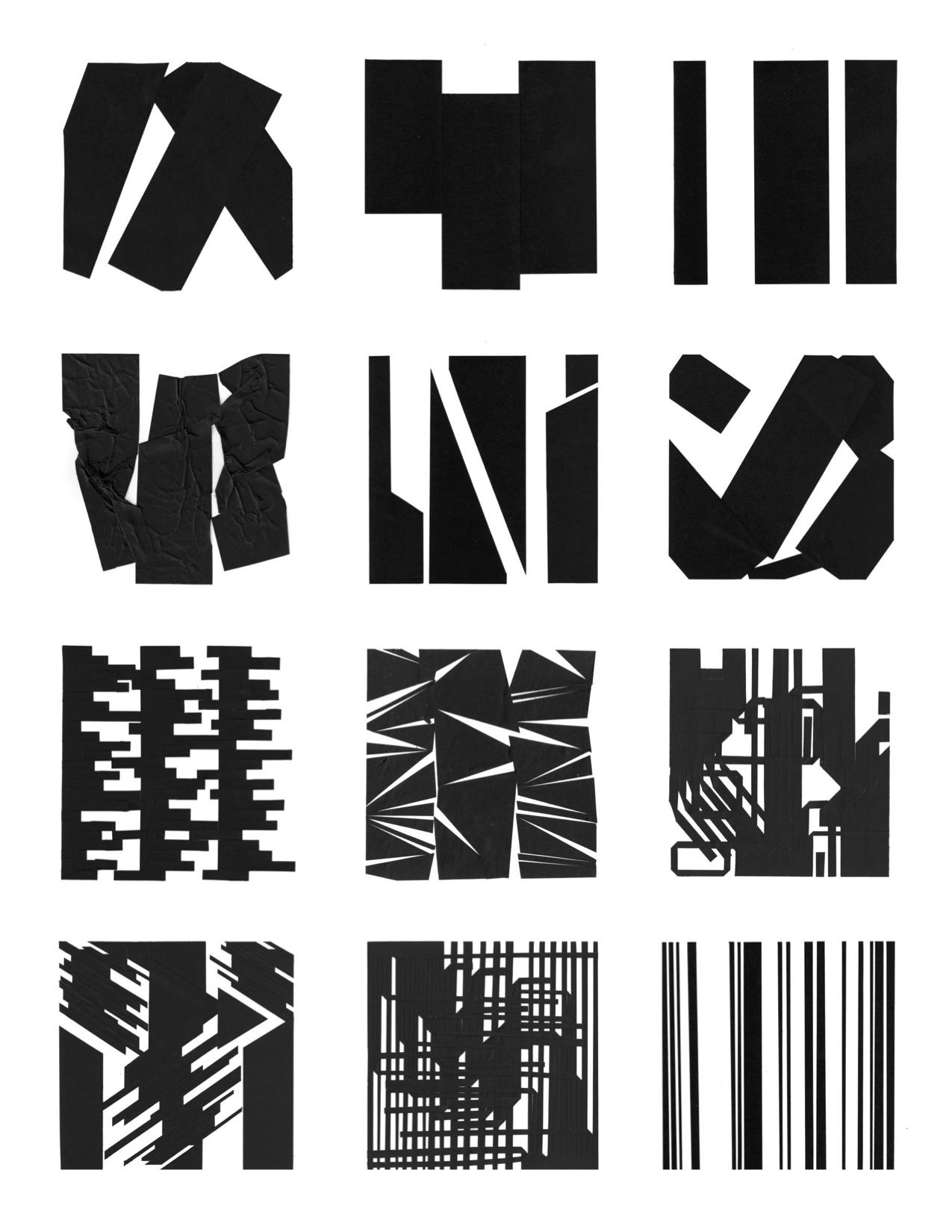 """2D Design - cut paper, 4""""x4"""" ea"""