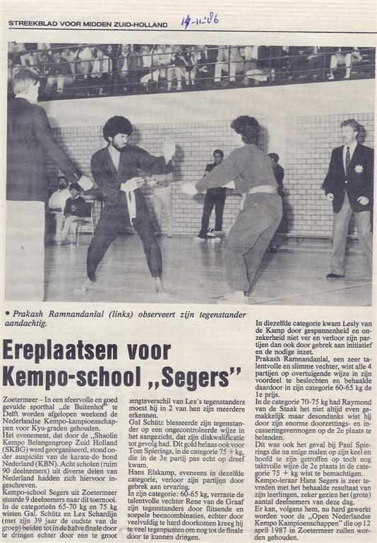 1986-11-14_Streekblad_voor_Midden_Zuid-Holland_Ereplaatsen_voor_Kempo-school_Segers.jpg