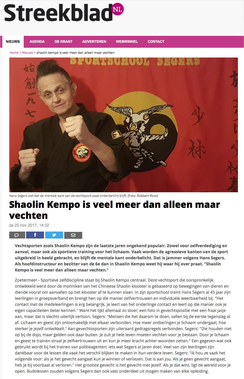 2017-11-25 Streekblad Shaolin Kempo is veel meer dan alleen maar vechten Edit.jpg