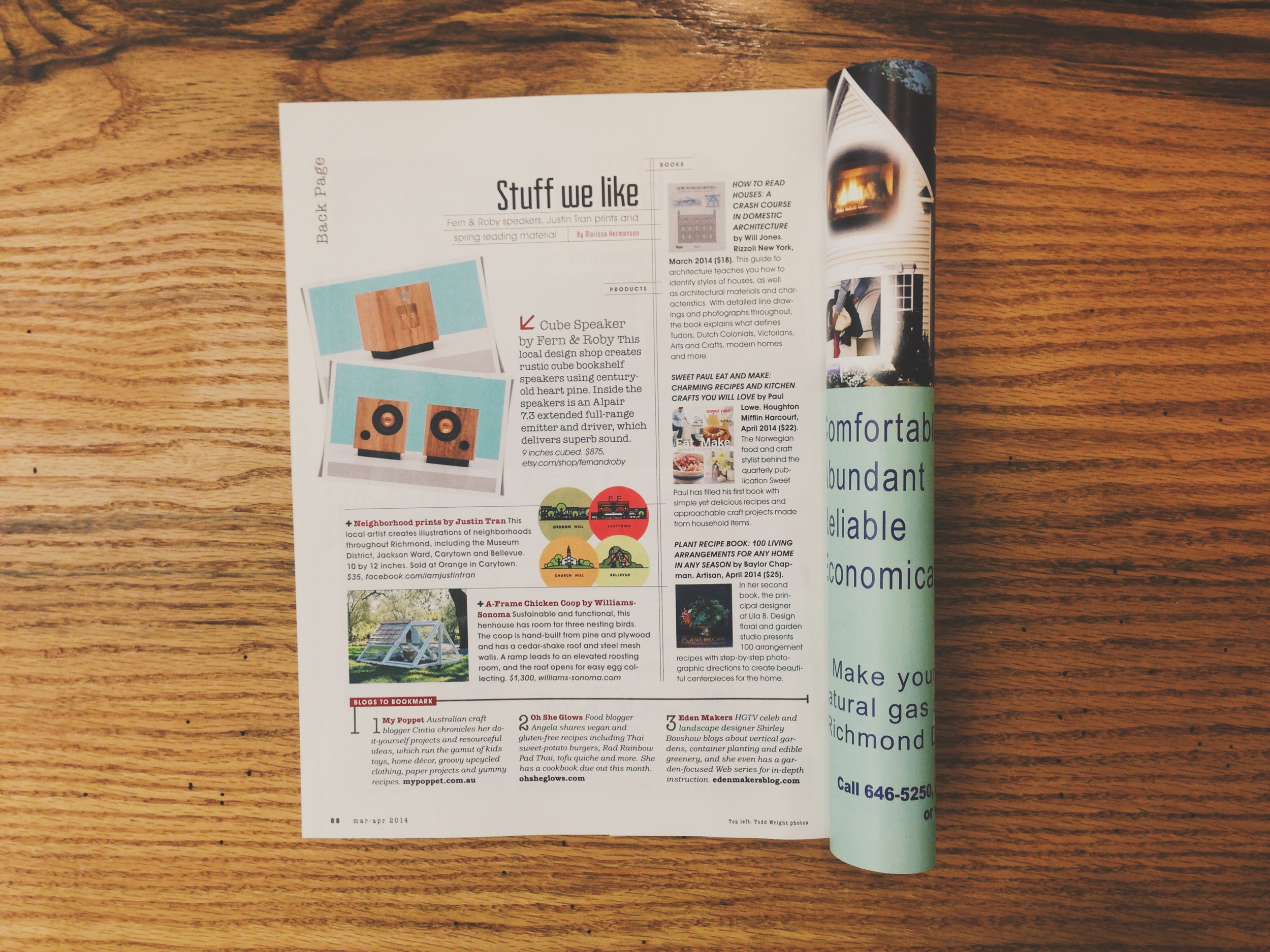 "Fern & Roby's  ""Cube""  speaker gets some good press in R*Home Magazine."