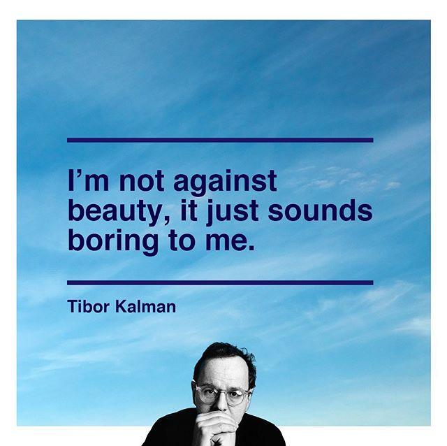 Happy birthday, Tibor. ... #thisismyadventure ... #aforadventure #tiborkalman #graphicdesign #mandco #designinspiration #happybirthdaytibor
