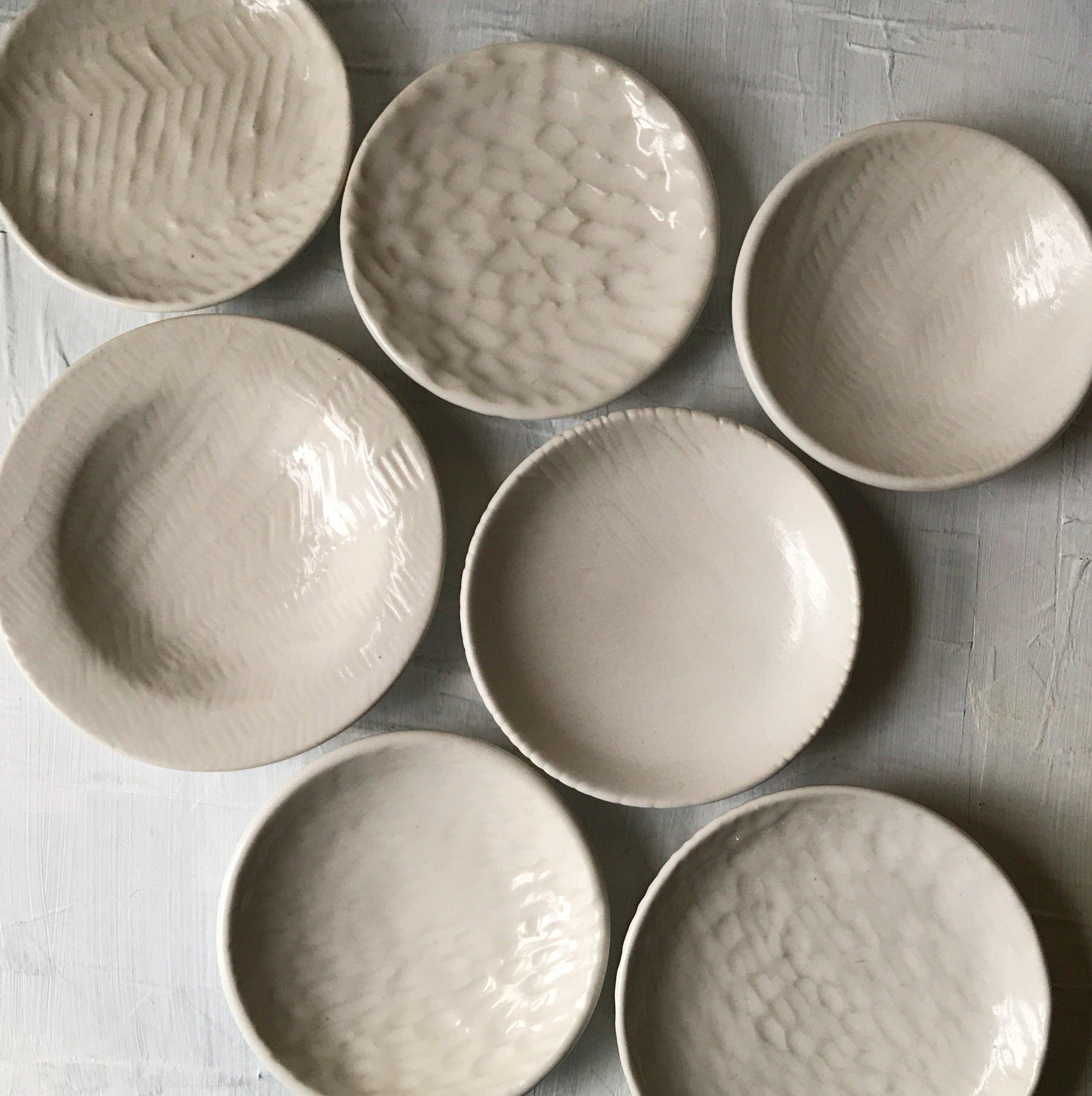 carved porcelain dishes