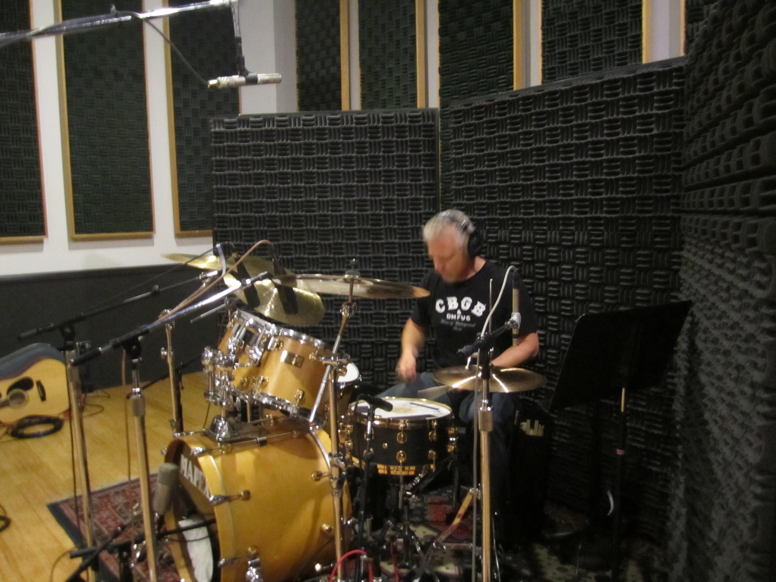 Tim Clausen on drums