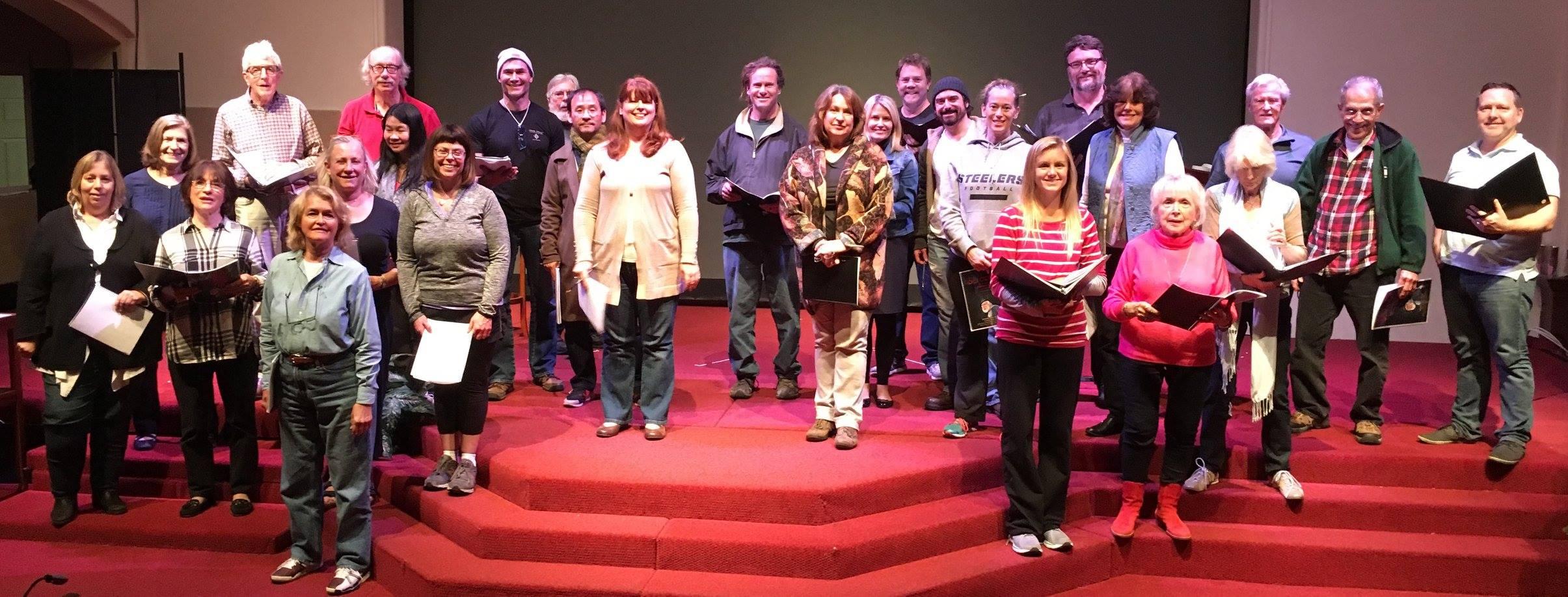 Scrooge Cast - in Rehearsal 12/16